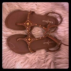 Cole Haan Sandals- Brown Leather- Size 10
